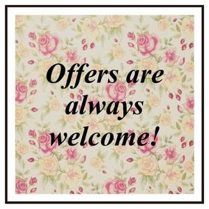 Reasonable offers are always welcome 😊